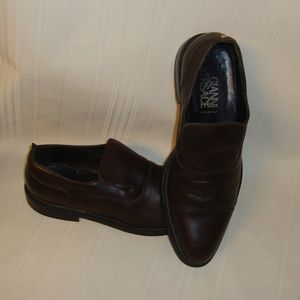 Gianni Versace  Men's Slip-On Brown Leather Shoes
